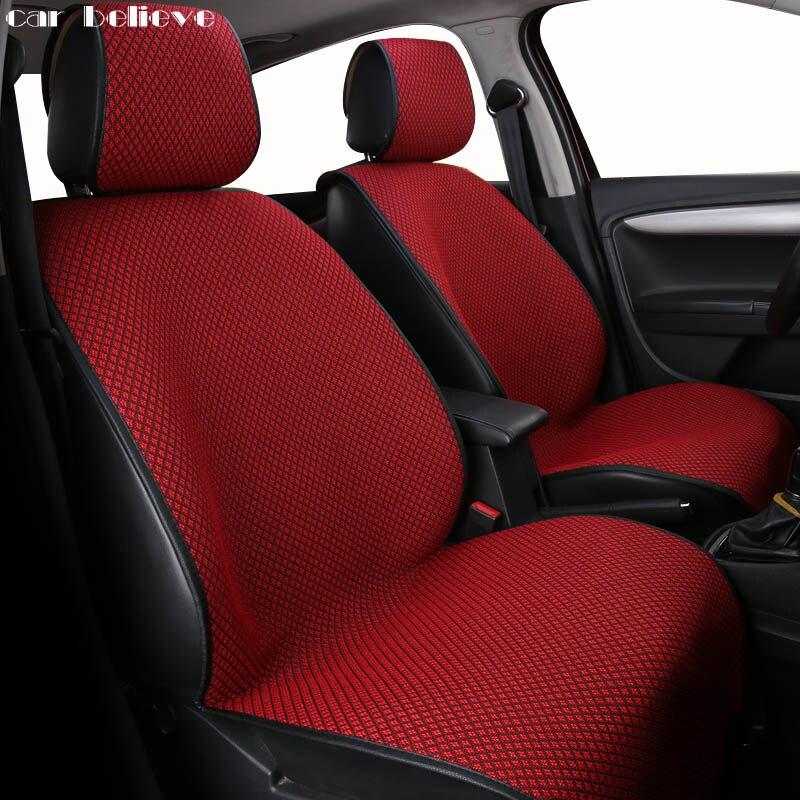 Car Believe Universal car seat cover For hyundai solaris honda civic 2006-2011 ford focus 3 renault loga car accessories styling