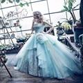 2017 Nova Mint Blue Ball Vestido Da Princesa de Cristal Quinceanera Vestidos Vestidos de Baile Vestidos de Baile Vestido Formal New Style Vestido Ocasião