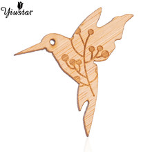 Yiustar Colorful Mini Elegant Cherry-birds Lapel Pin Wooden Brooch Pin Generous Sweet Charming Pin for Women Girls Family Gifts(China)
