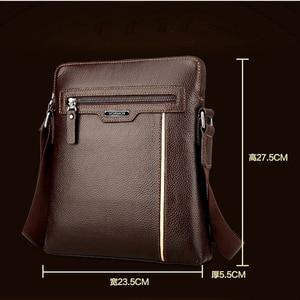 Image 2 - VORMOR Famous Brand Leather Men Bag Casual Business Leather Mens Messenger Bag Fashion Mens Crossbody Bag bolsas male