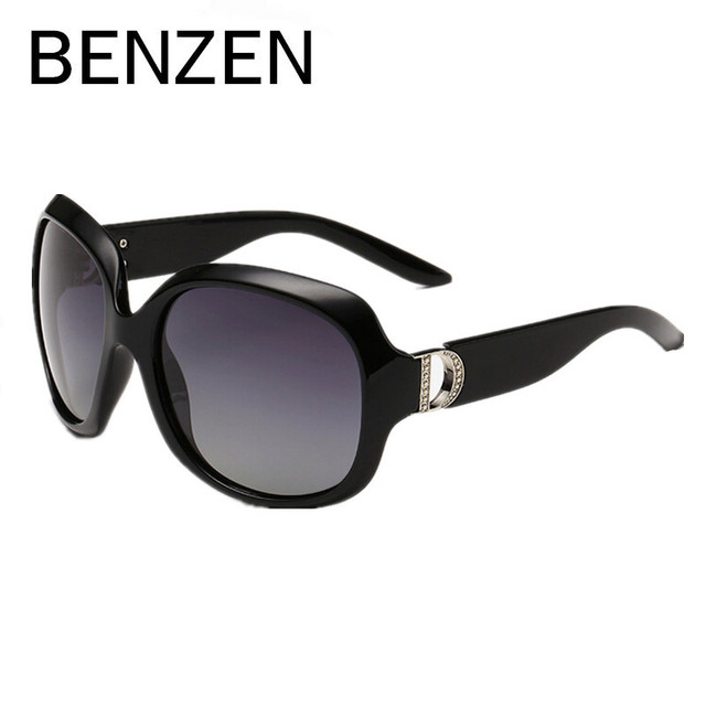 BENZEN Sunglasses Women Polarized UV 400 Oversized Vintage Sunglasses Female Sun Glasses Shades With Case 6088