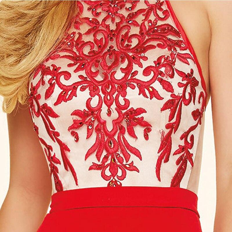 Comeondear Yüksek Yarık Halter Boyun Çizgisi Parti Nakış - Bayan Giyimi - Fotoğraf 5