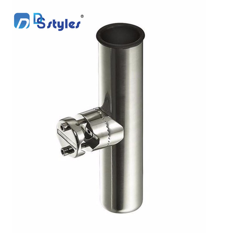DSstyles Fishing Rod Holder stainless steel Tube Adjustable Holder for Rails 1 to 1-1/4,7/8 - 1Fishing Tackle Fish Tool