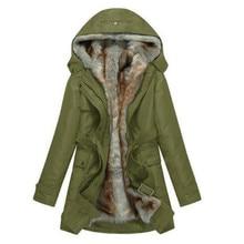 Fashion winter jacket Women Warm Coat Parkas With Hood Removable Fur lining Thick Oversized Basic