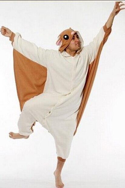 Polar Service Center >> Cosplay Animal Flying Squirrel Pajamas for Adults One Piece Women Men Ladies Party Pajama Onesie ...