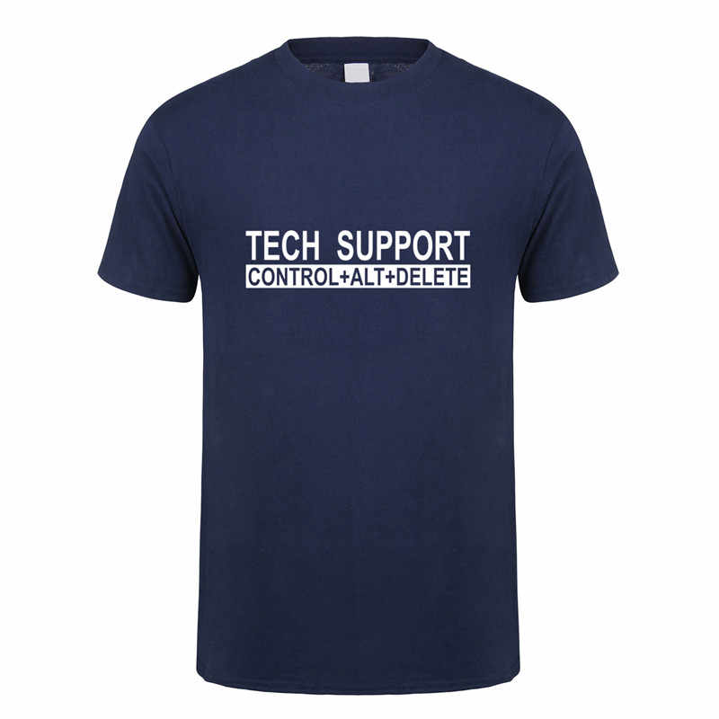 CTRL ALT DEL טק תמיכה חנון T חולצות גברים מחשב בדיחה חולצות כותנה קצר שרוול אופנה OZ-173