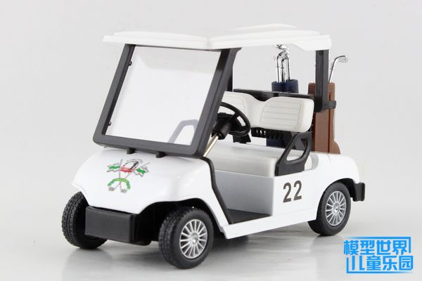 1 PC 11.5cm Kinsmart Golf cart Special for pitch Simulation alloy car model toys children gifts