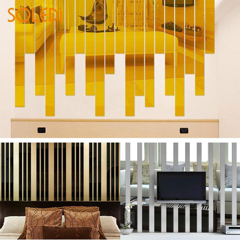 SOLEDI Wall Stickers 3D Mirror Acrylic Contemporary Home Decor ...