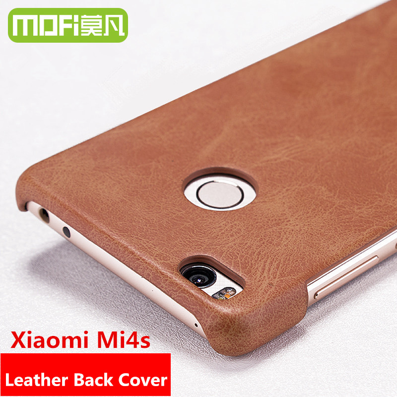 new product cd820 6c903 mofi case original xiaomi mi4s mi 4s leather cover black xiomi mi4s 5.0