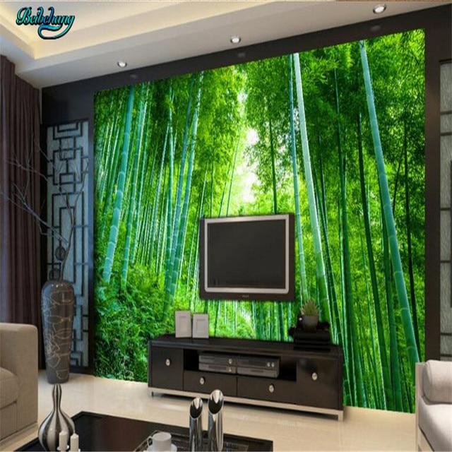 Online Shop beibehang Custom non-woven wallpaper wall murals bamboo ...