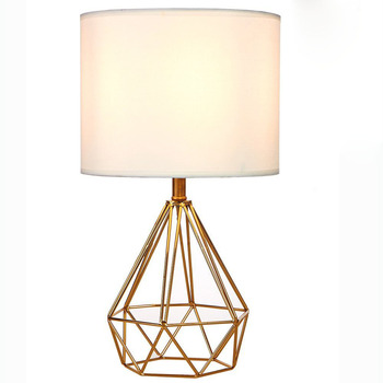 free shipping Modern creative fabric metal living room table lamp for sale