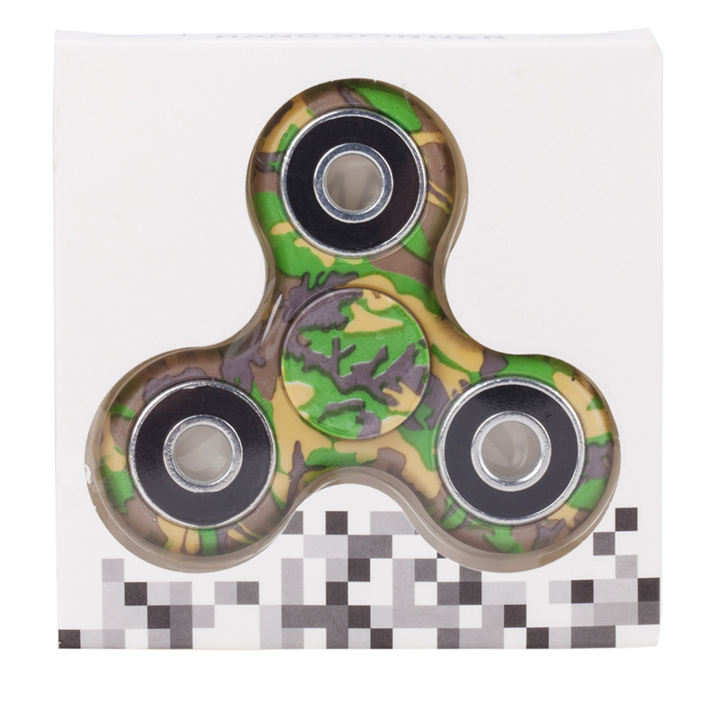 camouflage hand spinner spinning pack green