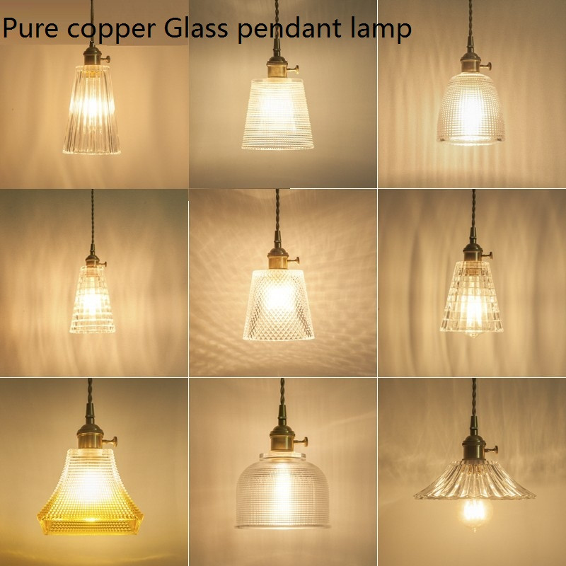 Nordic Loft Style Industrial Vintage LED Pendant Light Fixtures Antique Copper Glass Single Hanging Lamp Deco Indoor Lighting маяк в новой зеландии пазл 1000 элементов