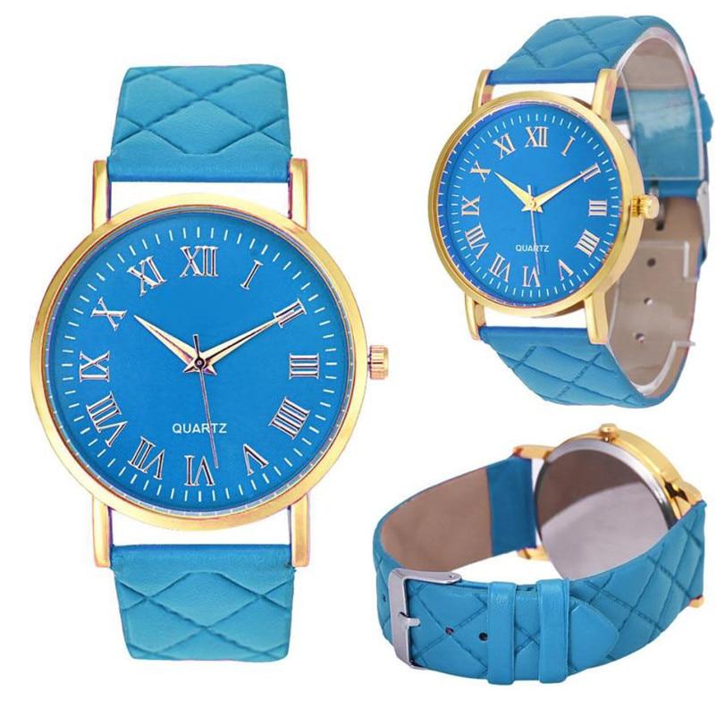 Men Women Watch Fashion High Quality Delicate Exquisite Women Faux Leather Analog Quartz Wrist Watch dropshipping