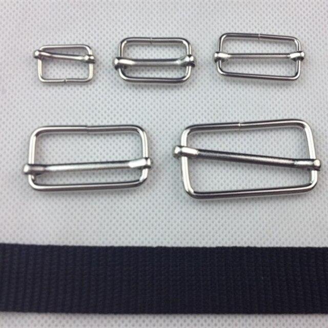efbb08b48fd81b 50 pz pacco Argento Fibbia di Regolazione Per Regolare Cinghie Per Cinture  Borse Scarpe Abbigliamento