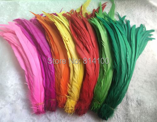 Rooster tail feather DIY feather clothing accessories jewelry accessories wedding supplies performance necessary 30 35cm