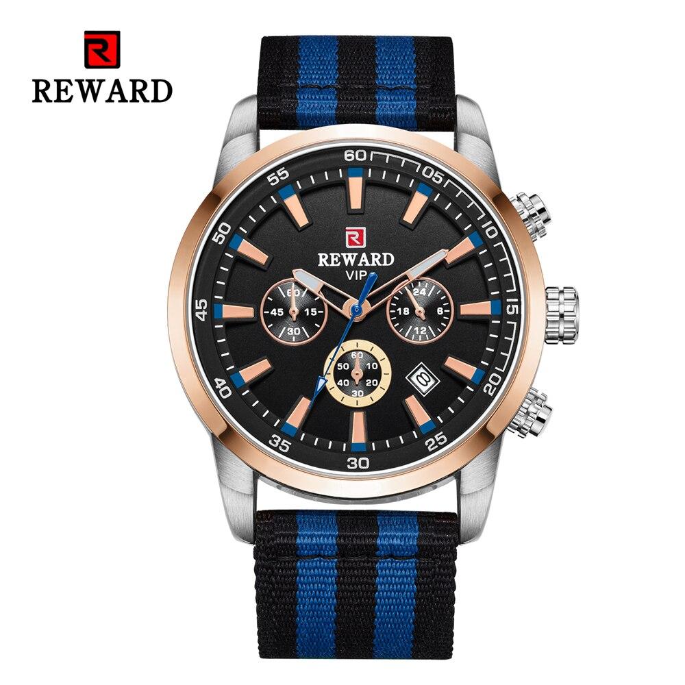 Quartz Men Watches Fashion Canvas Chronograph Watch Clock for Gentle Men Male Students Reloj Hombre free shipping 2019 (8)