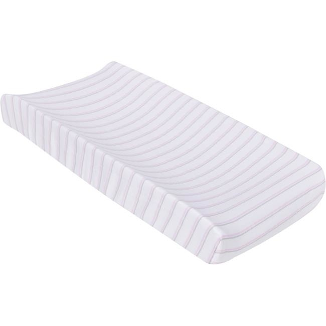 MiracleWare 8740 Pink & Gray Stripes Muslin Changing Pad Cover
