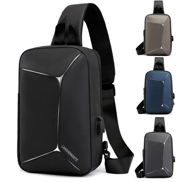 Waterproof Chest Bag Multi-function USB External Charge