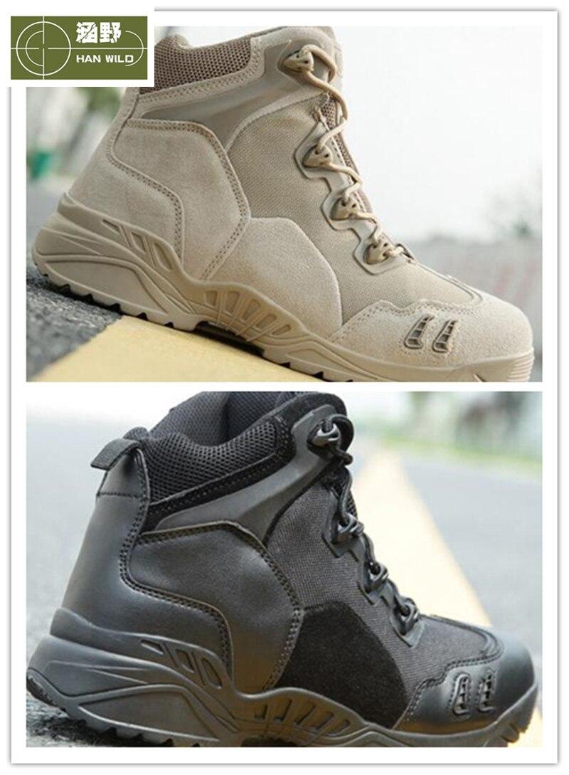 Armée bottes tactiques hommes chaussures de Combat en cuir respirant militaire bottes de Combat en plein air randonnée Camping chaussures de Sport