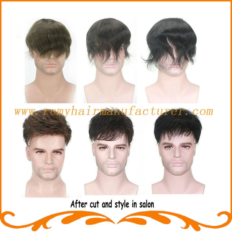 Base Style Full French Lace Indian Hair Base Size 810inch Mens Wigs