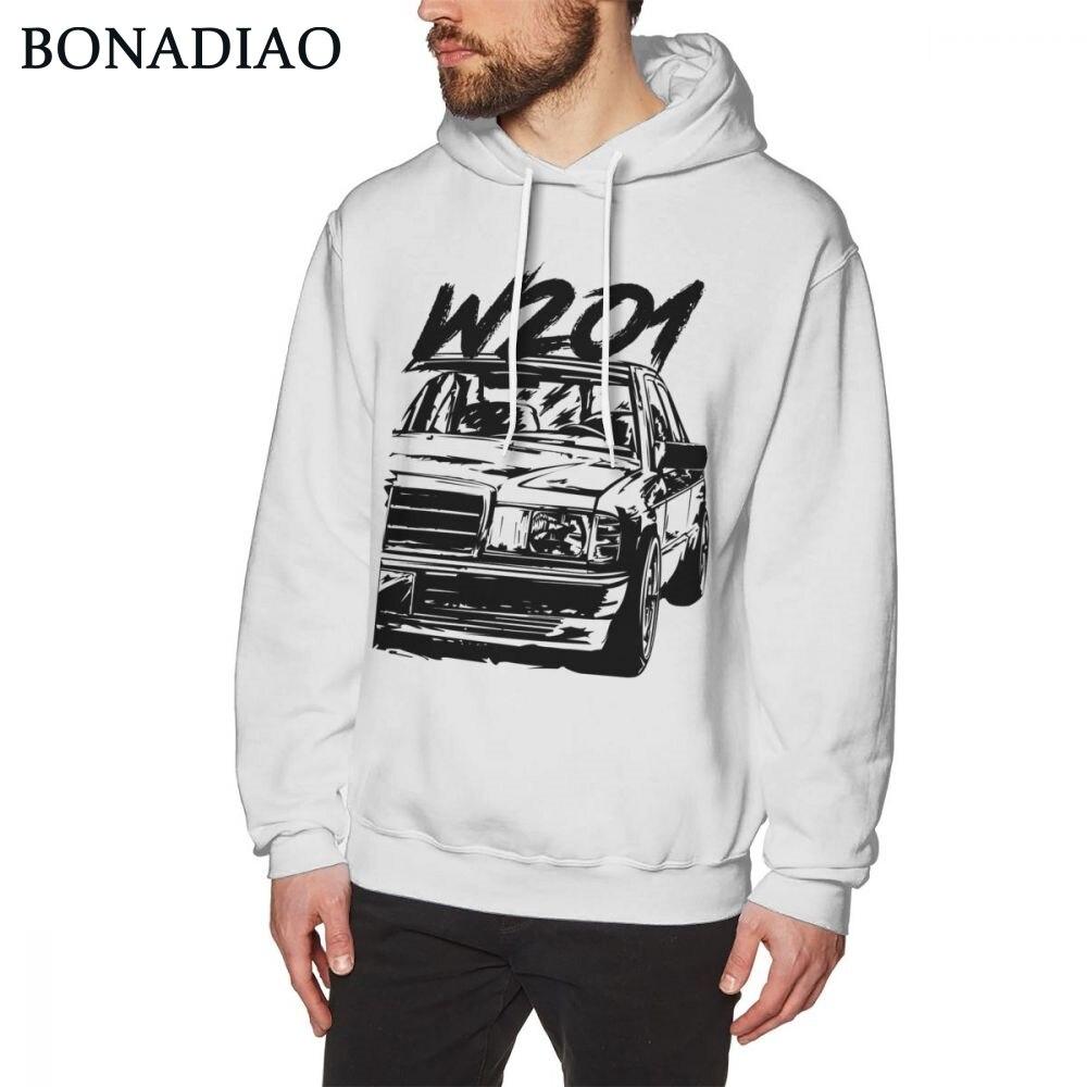 Awesome Car W201 Car Hoodies For Male Vintage Design Streetwear Sweatshirt Crewneck Long Sleeve