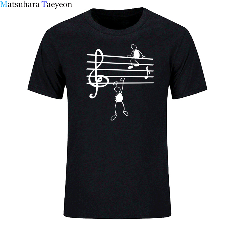 Music Notes Funny Print   T  -  shirt   Men Summer Style Cotton Short Sleeve O-Neck   T     Shirt   Funny Tee Mans Top Clothing