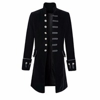 Prince Coat Steampunk Middle Ages men Goth Coat Overcoat Full Sleeve Keep Warm Wind Long Costumes Coats Halloween cosplay