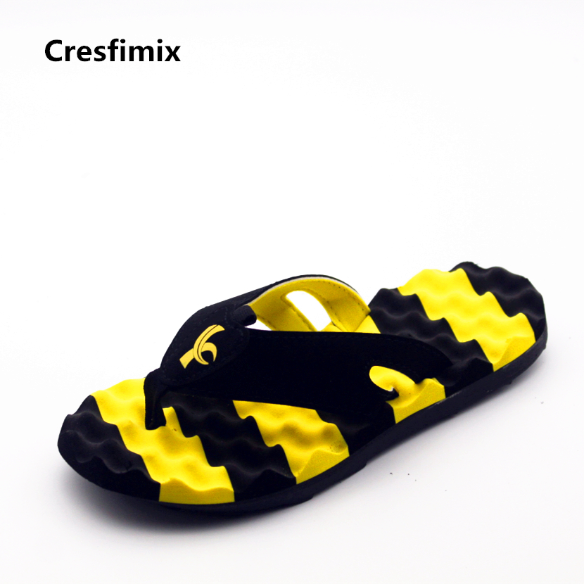 Cresfimix men fashion plus size striped flip flops man's casual spring and summer flip flops male cool and comfortable flip flop кардиган flip flop