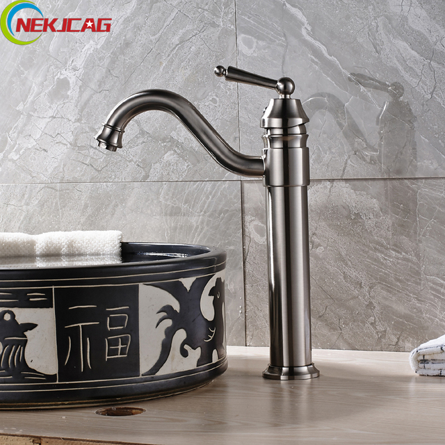Wholesale And Retail Single Handle Waterfall Bathroom Basin Faucet - Tall kitchen faucets
