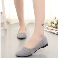 Fashion Women Comfort Pointy Ballerinas Moccasins Casual Korean Style Autumn Solid Ballet Girls Flat Pointed Toe