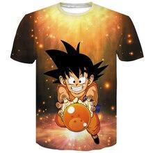 Dragon ball z Super Saiyan Son Goku Anime Summer 3D Print  Harajuku Funny Tshirt men Fashion Casual mens womens Short Sleeve
