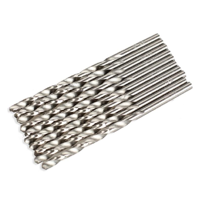 10PCS / Set HSS Set di punte per trapano a spirale Set 3mm 60mm Micro - Punta da trapano - Fotografia 3