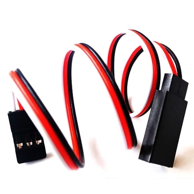 10Pcs 100/150/300/500mm Servo Extension Lead Wire Cable For RC Futaba JR Male to Female(China)