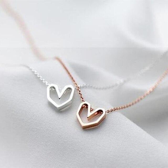 brixini.com - Minimalist Origami Heart Necklace
