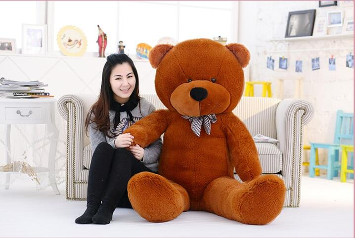 Factory direct New 160cm 1.6m giant teddy bear plush toys children soft peluches baby doll big stuffed animals birthday gift new 200cm huge giant yellow teddy bear soft big plush toy stuffed kid baby doll life size bear doll for children girls gift llf