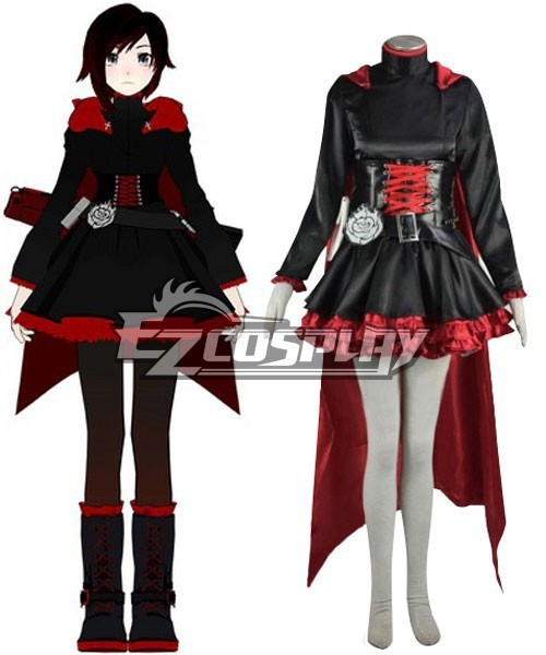 RWBY Red Ruby Rose Cosplay Costume E001 On Aliexpress.com | Alibaba Group