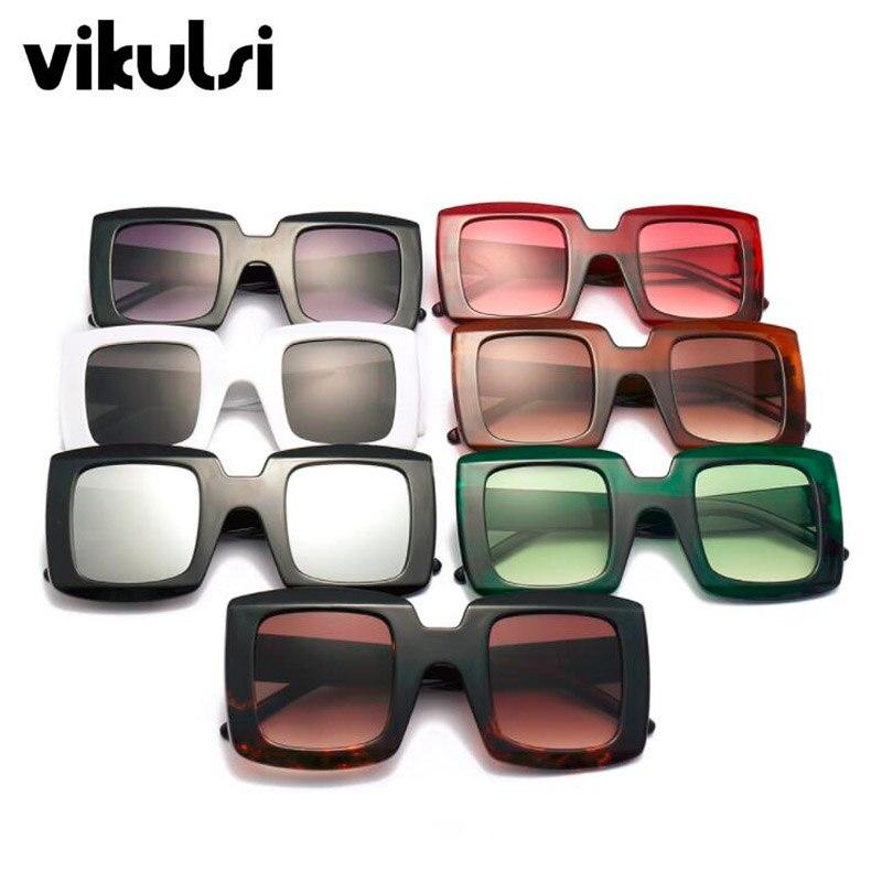 Retro Oversize Square Sunglasses Men 2019 Luxury Brand Vintage Sun Glasses Women Goggle Red Black Green Shield Sunglasses UV400