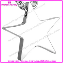 IJD8453 Cremation Jewelry Stainless Steel Ashes Pendant Memorial Urn Necklace Five-pointed Star Shape