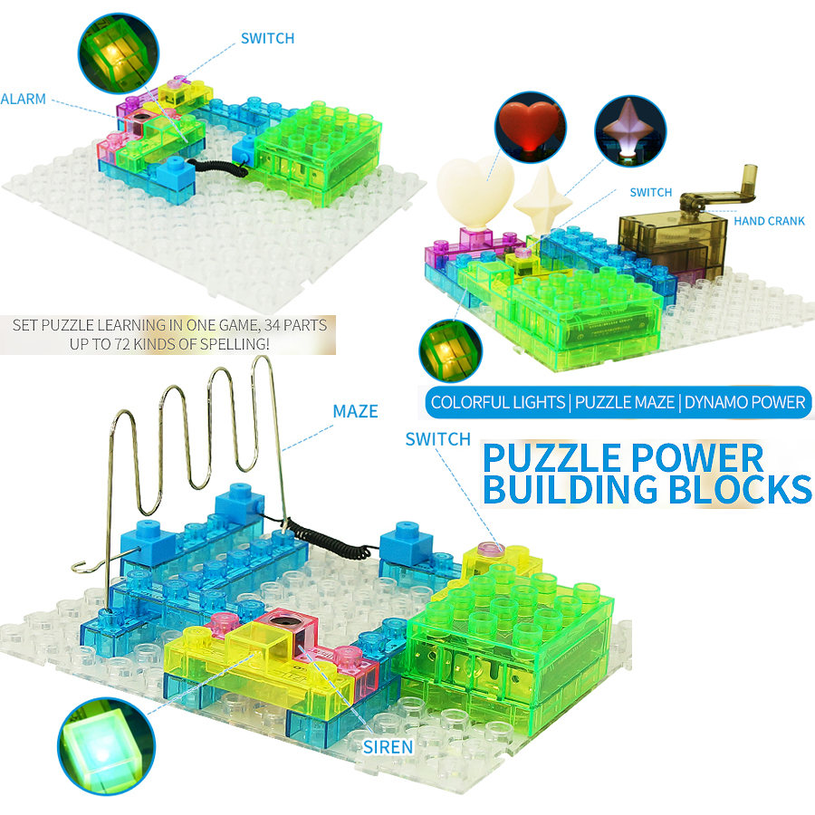 Electronic Circuit Blocks Kit 72 Different Projects Building Set Basic Circuits Setcontains 34 Parts Puzzle Maze Stem Educational Toy For Children On Alibaba