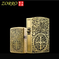 Zorro Constantine Kerosene Lighter Vintage Kerosene Oil Lighter With Gift Box Gadgets For Men Kerosene Lighter Cigarette Lighter