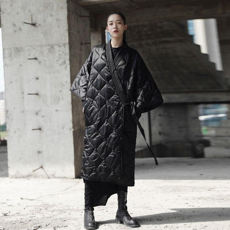 Parka D'hiver Okd273 2019 Long Modifié Robe Vestes Oversize Femmes Coton Longue Et Noir Femelle Manteau Black Large Lâche Chaud En 1KTl3FJc