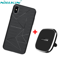NILLKIN Magnetic wireless charger receiver case for iPhone XS Max XR Qi Wireless Charger Car Pad & Magic case for iPhone XS X
