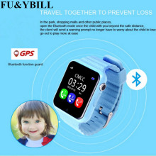 GPS Smart Watch Kids V7k Camera Facebook SOS Call Location DevicerTracker for Kid Safe Anti Lost