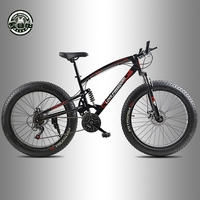 Love Freedom High Quality Bicycle 7/21/24/27 speed Mountain Bike 26 Inch 4.0 fat bike Front and rear shock absorption bicycles