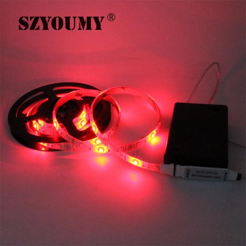 SZYOUMY RGB Led Light Strip аккумуляторы Powered + RGB - LED Жарықтандыру - фото 5