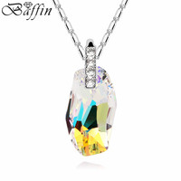 100 Original Crystals From Swarovski Pendant Necklaces Women Party Accessories Chain Collares Collection Jewelry