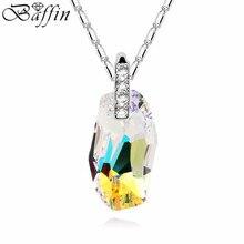 100% Cristales Originales De Swarovski Collares pendientes Accesorios Partido de Las Mujeres de La Cadena Collares Joyas De Colección