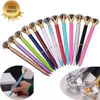 50PCS High Quality Crystal Ballpoint Pen Luxury 1.0MM Nib Crystal Ball Pen Custom Logo School Office Supplies Christmas Gift