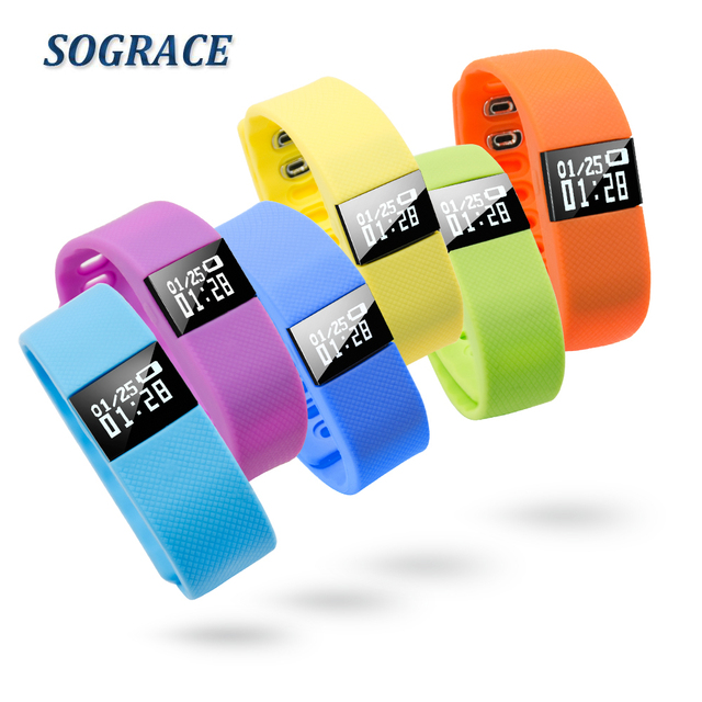 SOGRACE Wristbands Fitness Bracelet TW64 Life Waterproof Pedometer Bluetooth 4.0 Activity Tracker Watch Smart Wristband Y115